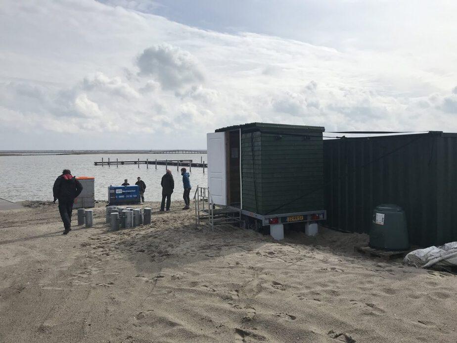 Ook op nieuw land, de Markerwadden, Ecosave droogtoiletten !
