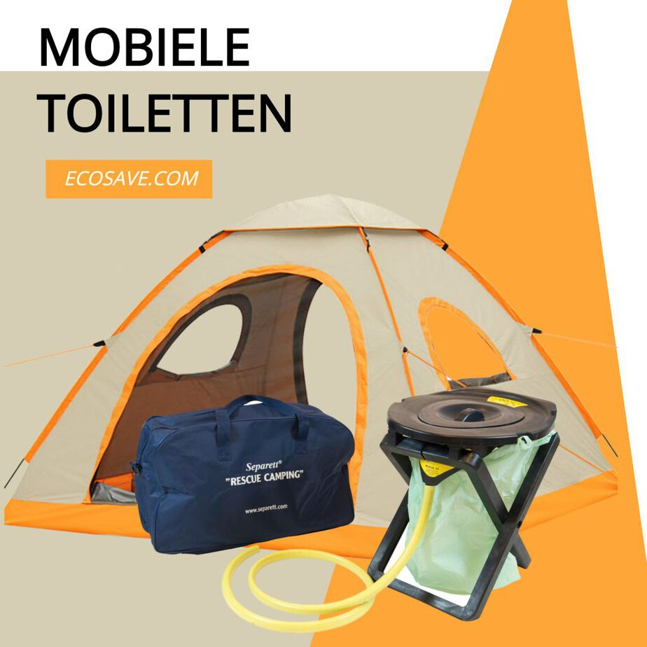 Camping toilet. Draagbaar