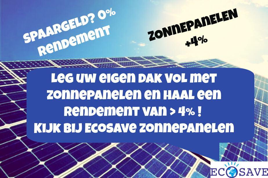 Zonnepanelen Ecosave