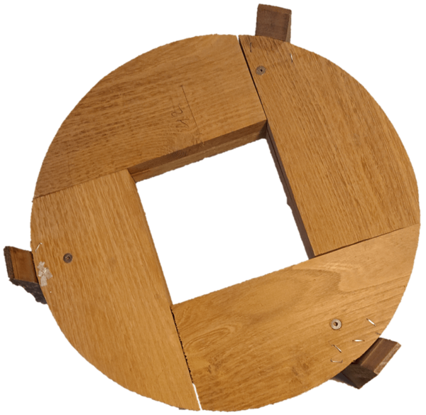 Ecosave Regenton Beehive 150L houten onderzetter
