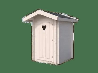 Ecologische houten toilethuisje 2