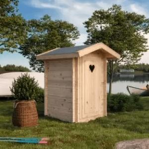 Ecologische houten toilethuisje