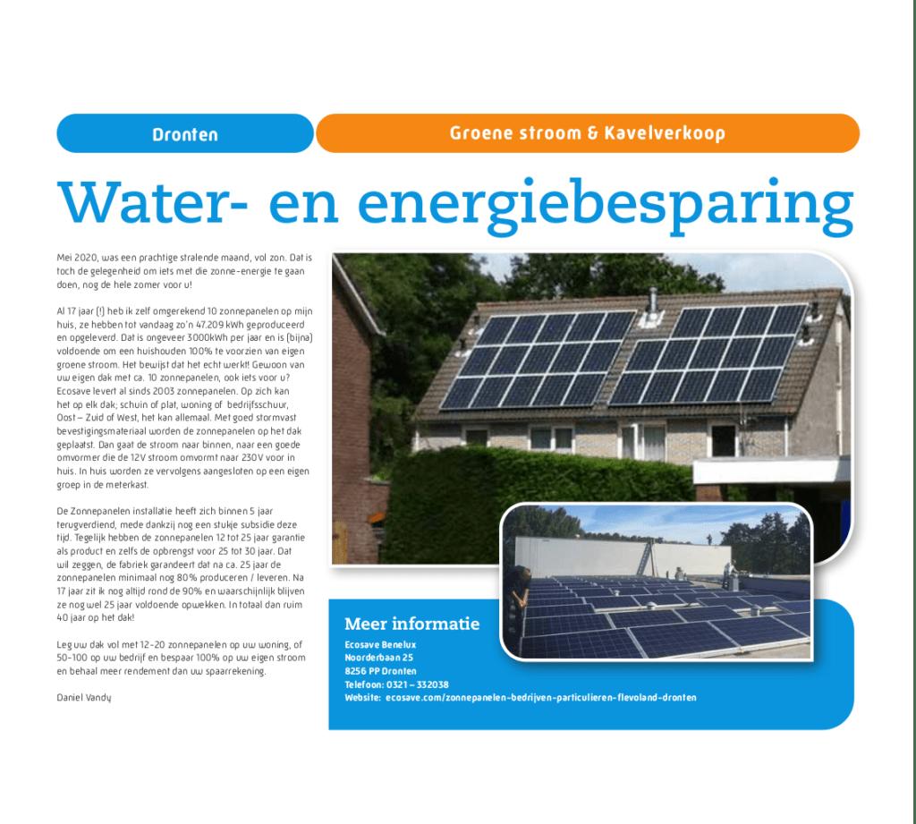 Water- en energiebesparing