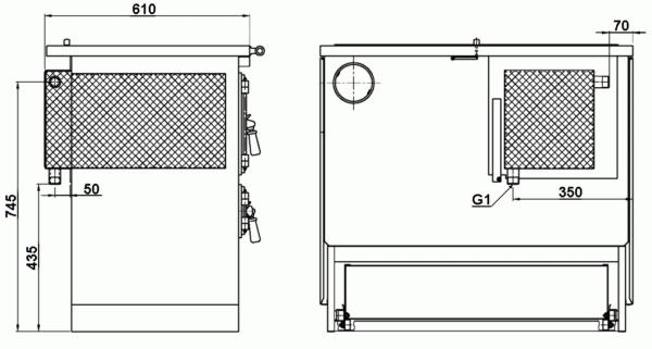 Tiny house kookkachel met OVEN, model 9112-Heu een perfecte kleine Wood Stove ! Fantastische aanbieding Range Cooker 1