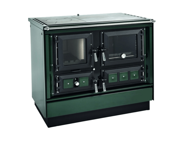 Groene Tiny house kookkachel met oven