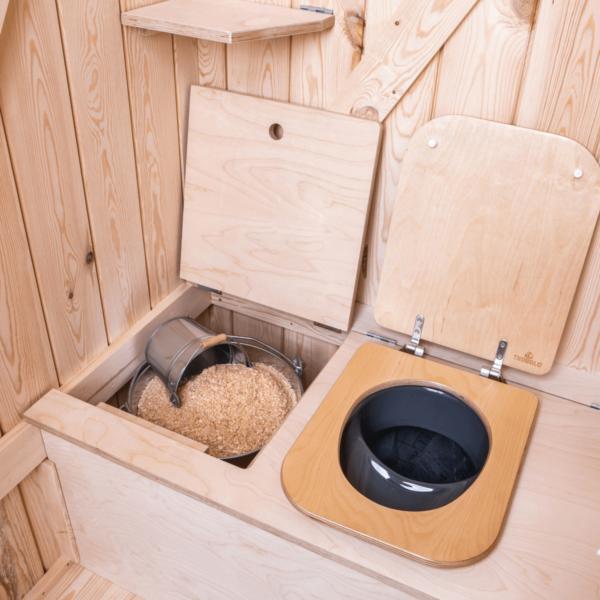 Ecosave Trobolo Kersaboem toilethuisje binnenkant