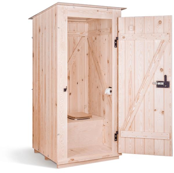 Ecosave Trobolo Kersaboem toilethuisje voorkant open