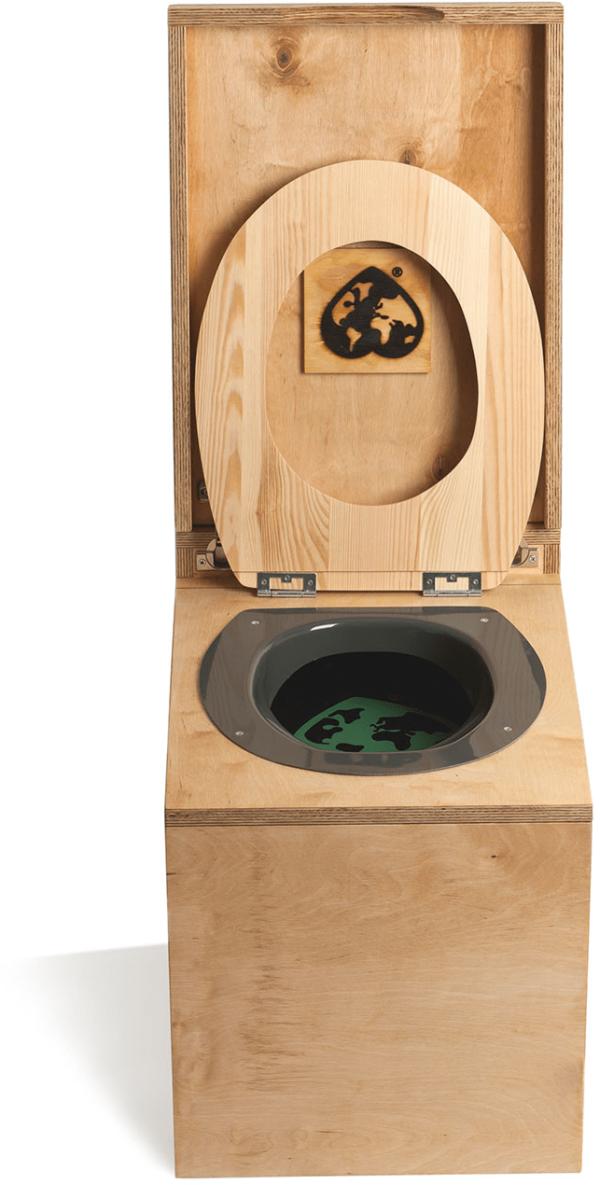 Ecosave Trobolo LuweBloem houten droogtoilet vooraanzicht open