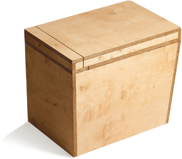 Ecosave Trobolo LuweBloem houten droogtoilet achterkant