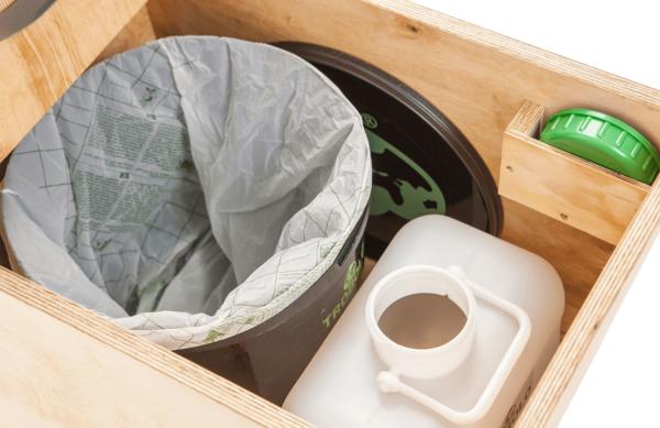Ecosave Trobolo LuweBloem houten droogtoilet inhoud