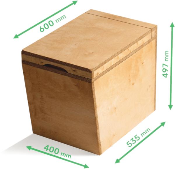 Ecosave Trobolo LuweBloem houten droogtoilet maten