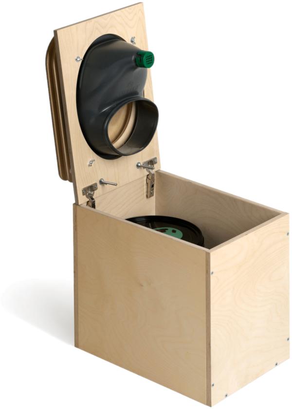 Ecosave Trobolo TeraBloem houten droogtoilet open