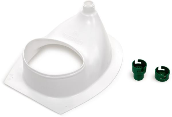 Ecosave Trobolo urinescheider los wit onderkant met onderdelen