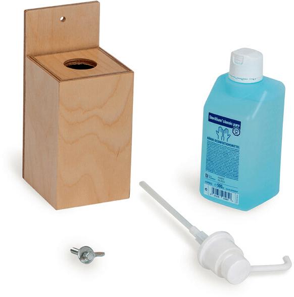 Desinfectiemiddel dispenser de onderdelen